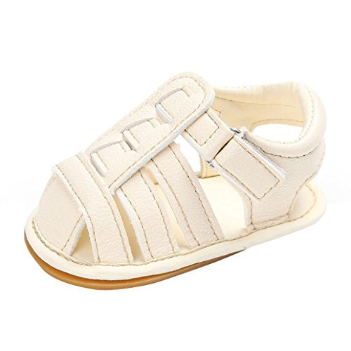 BZLine® Baby Kleinkind Sandalen rutschfest Kleinkind ersten Wanderer Sommer Schuhe Weiß