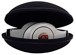 Sturdy Hard Shell Headphone Carrying Case, Headset Storage for Travel | Impact Protection for Beats Dr Dre Headphones - including Studio, Solo, Solo2, Solo HD, Wireless & More | Black Ballistic Nylon