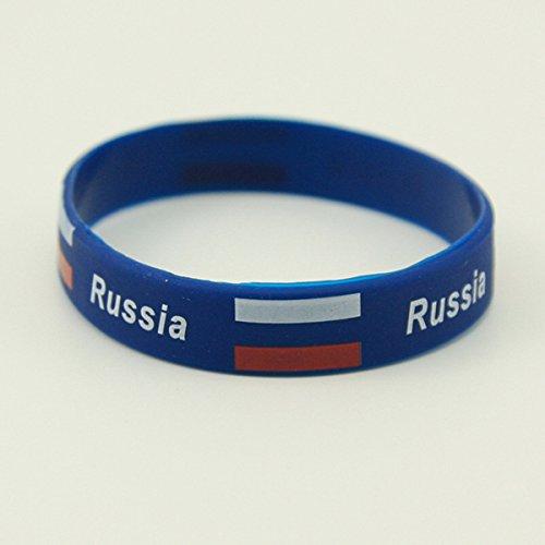 yigooood Russia 2018ワールドカップブレスレットサッカーファンアクセサリーシリコンブレスレットサッカーCheerleading Supplies B07BQSZ6DD ロシア ロシア