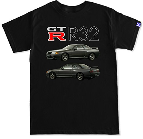 05 Intercooler (FTD Apparel R Built Men's GTR R32 T Shirt - XXL Black)