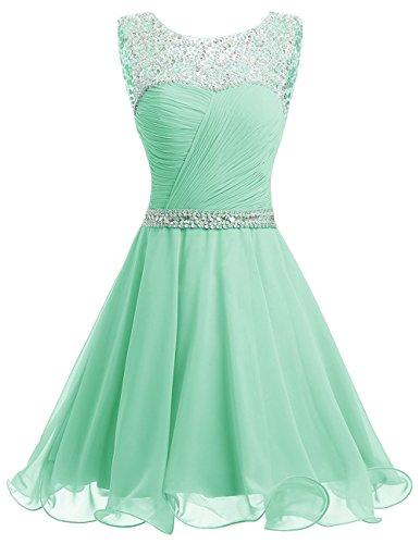 JYDress - Vestido - trapecio - para mujer verde menta