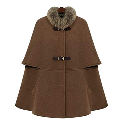 Poncho Colore Donna Stola Baggy Termico Cappotto Invernali Abbigliamento Autunno Kamelfarbe Puro Calda Vintage Tempo Alta Capa Eleganti Vita Fashion Giacche Libero rrwqZX