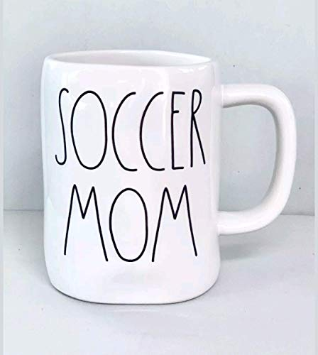 Rae Dunn by Magenta Soccer Mom large letter coffee tea mug
