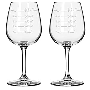 Caloric Cuvee – The Calorie Counting Wine Glass (Set of 2) 414PZ79FK0L