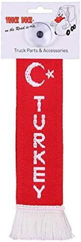 Truck Duck Lkw Auto Minischal Türkei Turkey Mini Schal Wimpel Flagge Fahne Saugnapf Spiegel Deko Auto
