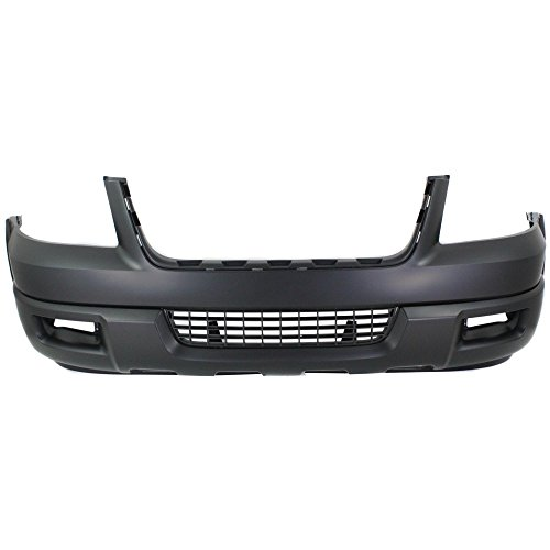 Front BUMPER COVER Primed for 2004-2006 Ford Expedition w/Absorber w/Spoiler Holes
