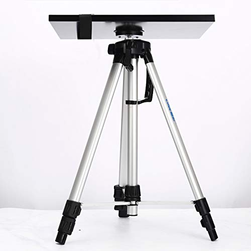 Qucking Light Projector Stand, Pico Projectors Adjustable Height Portable Lectern/Table Tripod Style for Home Cinema/Entertainment & Presentation