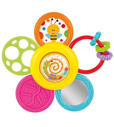 (KiddoLab Infant Spin, Rattle and Teether Toy. Baby Multi-use Toy for Better Relaxation and Sleep. Essentials Activity Toy for Babies and Toddlers, Develops Fine Motor Skills. Age: 6 Months Old and Up)
