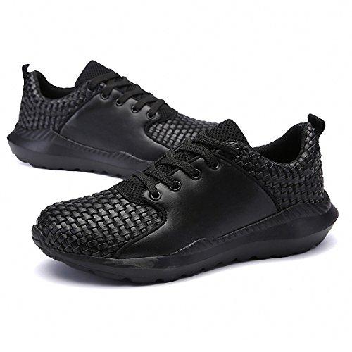 Running Trainer weweya Shoe Sneakers Top Low Woven Black Athletic Men's rgXqXEW
