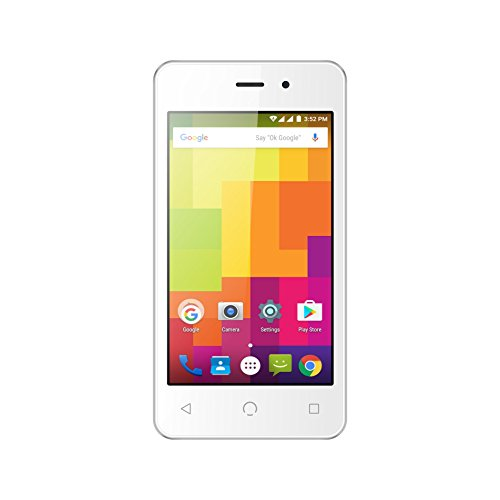 NUU Mobile A1 4.0' Dual SIM Android Lollipop Smartphone with 1YR Warranty, White