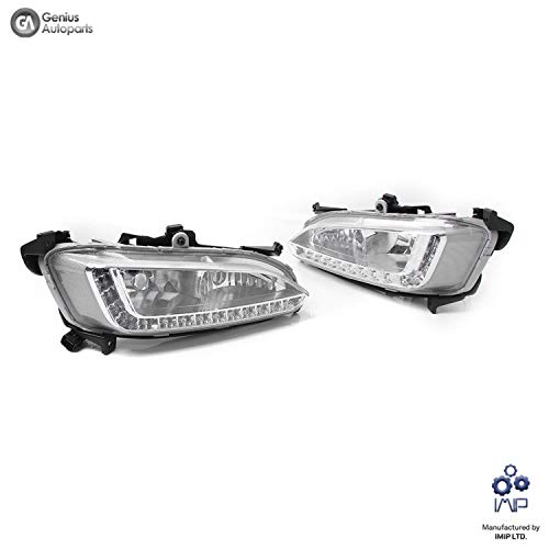2 Pack Genius GN-2800 Daylight Running Light LED DRL Kit Fog Daytime Lamp Double Hole with White Lights