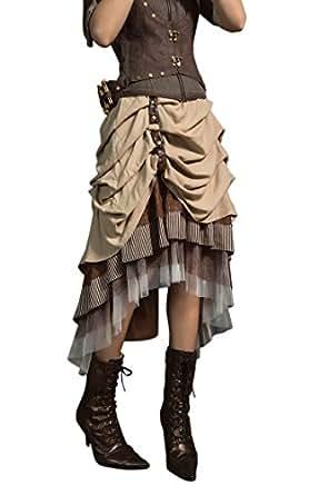 Amazon Com Haolin Steampunk Dress Lolita Victorian Gothic
