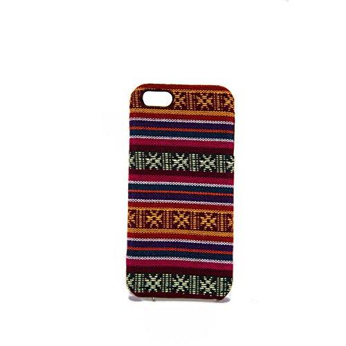 König-Shop Handyhülle aus Stoff-Case für Apple iPhone 5 / 5s / SE Cover Etuis Bumper Pink