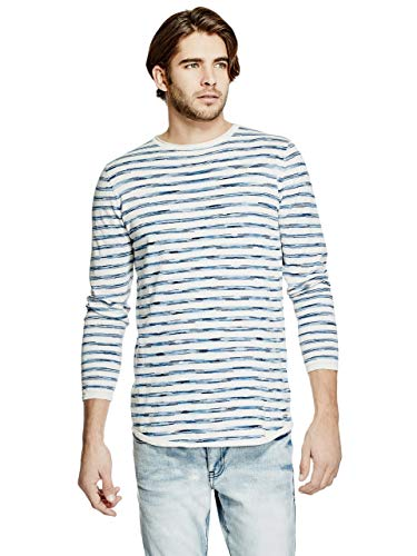 GUESS Factory Men's Newton Striped Longline Sweater
