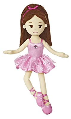 "Aurora World Brunette Ballerina 14.5"" Plush"