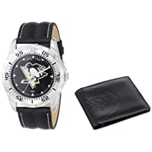 Game Time Unisex NHL-WWS-PIT Wallet and Pittsburgh Penguins NHL Watch Set