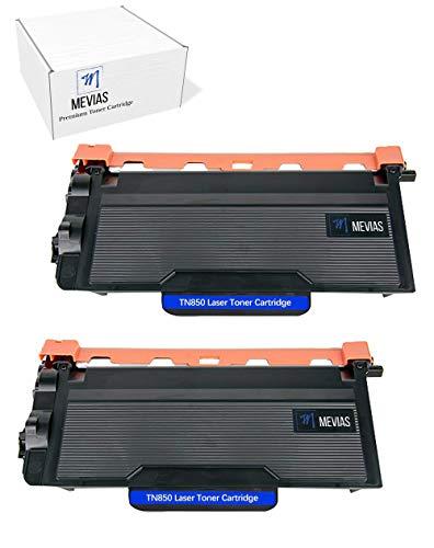 Mevias Premium 2 Pack TN850 Toner Cartridge Compatible High Yield TN820 Black Ink for Brother HL-L5200DWT HL-L6200DW MFC-L5800DW MFC-L6800DW HL-L6300DW HL-L6400DW MFC-L5850DW Printer (2 Pack Black)