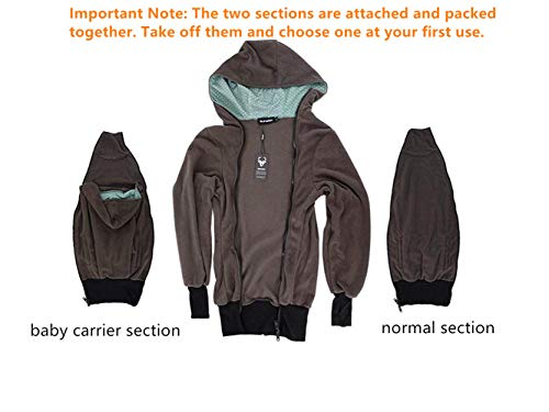 8214747c1 NeuFashion Exclusive Double Thick Real Baby Carrier Hoodie Jacket ...