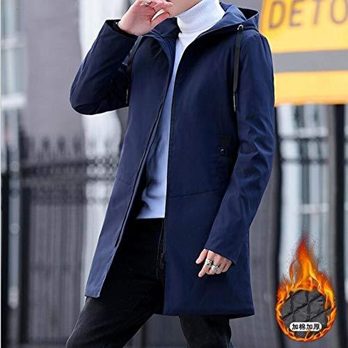 Buy Hangon Winter Jacket Men Hooded Slim Korean Parka Hombre Long Jacket Coat Cashmere Mens Windbreaker Parkas Cotton Youth Clothing At Amazon In