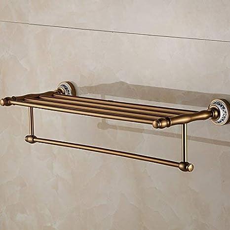 Znzbzt Espacio azul aluminio esmalte de color cobre antiguo baño toallas de baño adornos metálicos retro toallero: Amazon.es: Hogar