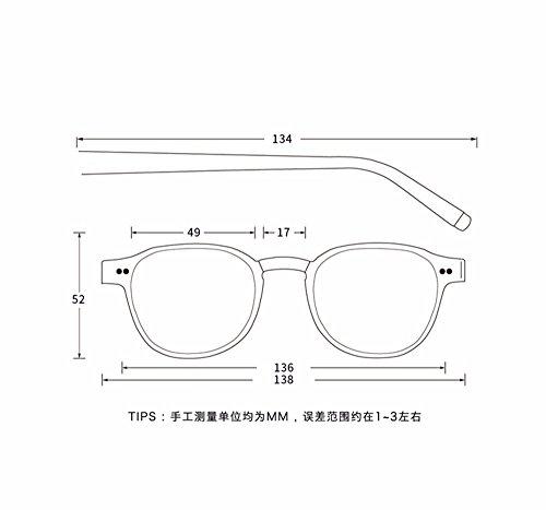XIAOGEGE gafas color negro chica transparente gafas de retro de sol Negro Las la es también sol cadena rFqwfr7