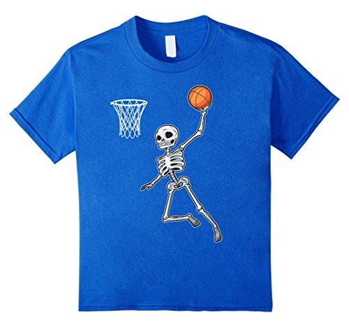 Kids Skeleton Basketball Halloween TShirt Slam Dunk Costume Gifts 6 Royal Blue (Basketball Girls Costume)
