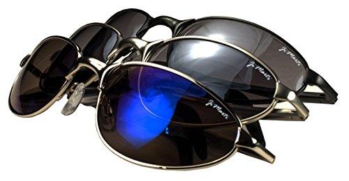 Jimarti AV5 Aviator Sunglasses Spring Hing Revo lens Colors (Three - Revo Aviator