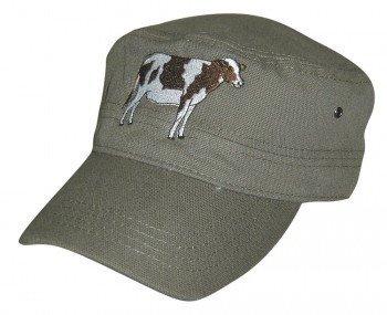 cappello-militare con Ricamo - bovino mucca - 60511 Grigio  Amazon ... 7524aa8a1f58