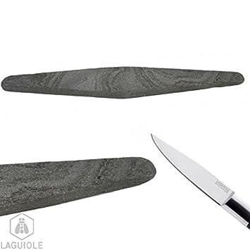 La piedra natural de los Pirineos, para afilar cuchillos ...