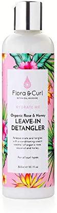 Flora & Curl Organic Rose & Honey Leave-in Detangler for Kinky and Curly Natural Ha