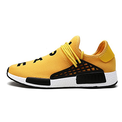 Amazon.com | Fashion Light Breathable Lace-up Men Shoes Zapatilla Deportivas Mujer Human Race Casual Shoes Unisex Size 35-44 Black 6 | Shoes