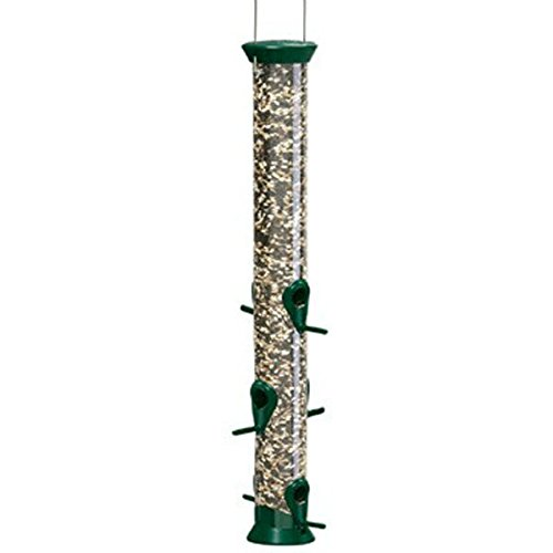 Droll Yankees Seed Feeder 2.5 In. Dia Stainless Steel 6 Ports 1.5 Lbs. Green