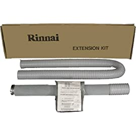 Rinnai FOT157 61 to 79.6-Inch Vent Pipe Extension Set 1 1 21-40-Inch Exhaust Pipe 1 40-Inch Exhaust Pipe 1 90-Inch Air Intake Hose