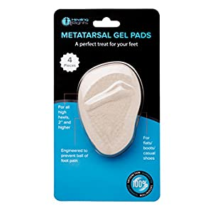 Healing Rights - Metatarsal Ball Of Foot Inserts High Heels Feet Reusable Silicone Transparent Gel Insole Cushion Pads Cups (4 Pieces)