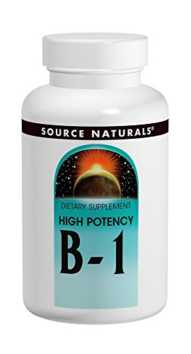 Natural 100% 500 Tabs (Source Naturals B-1 High Potency 500mg with Mag, 100 Tablets)