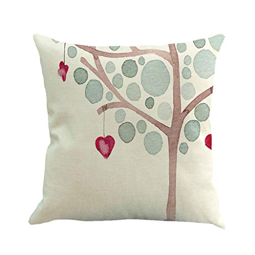 (Love Pillowcase Valentines Day Throw Pillow Covers Sweet Heart Arrow Pillow Case Cover 18x18'' Romatic Cushion Cover Linen Decorative Pillow Case Pecfect Gift for Lovers)