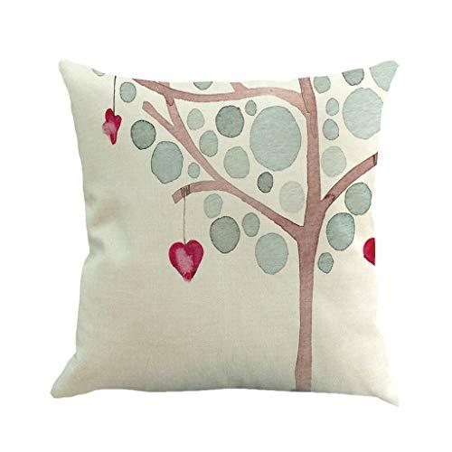Duseedik Valentine's Day Pillowcase, Print Pillow Case Polyester Sofa Car Cushion Cover Home Decor