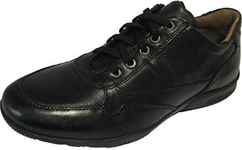 Baskets noires en cuir pour hommes