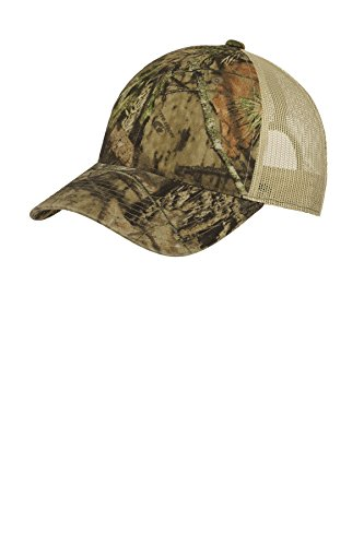 Port Authority Unstructured Camouflage Mesh Back Cap. C929 Mossy Oak Break Up Country/Tan OSFA