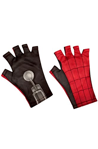 Rubie's Spider-Man: Homecoming Homemade Suit Adult Fingerless Gloves, One Size