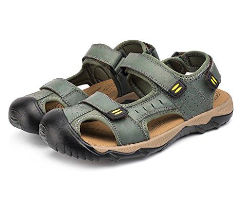 Costume Hommes Cuir Air De Sogxbuo Plein Chaussures De Pour De Mules Été Sandales En Sandales Plage Velcro Sport De En Sport xnwAY7wXB
