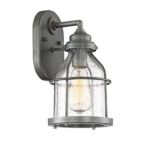 Designers Fountain 23121-WI Wall Lantern, Weathered Iron