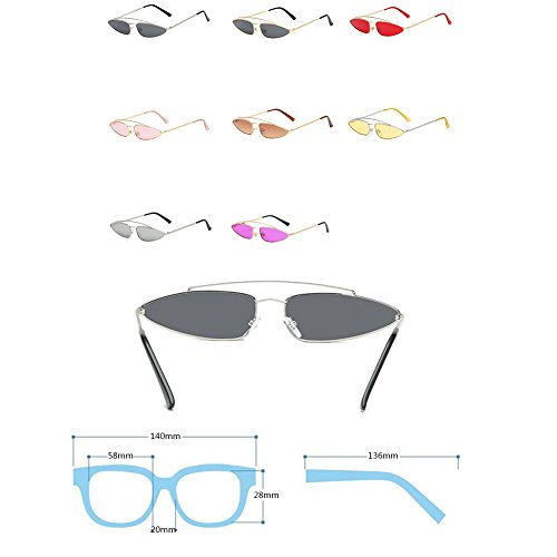 Moda Vintage Sunglasses Inlefen Mujeres Gafas Eye Retro Mod Hombres Mercury Cat Style qUf8IWwOf