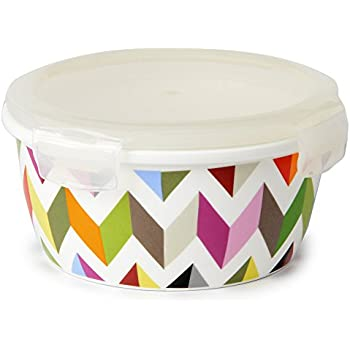 French Bull   Food Storage Container U0026 Air Tight Lid   600ml Porcelain  Large Food Container