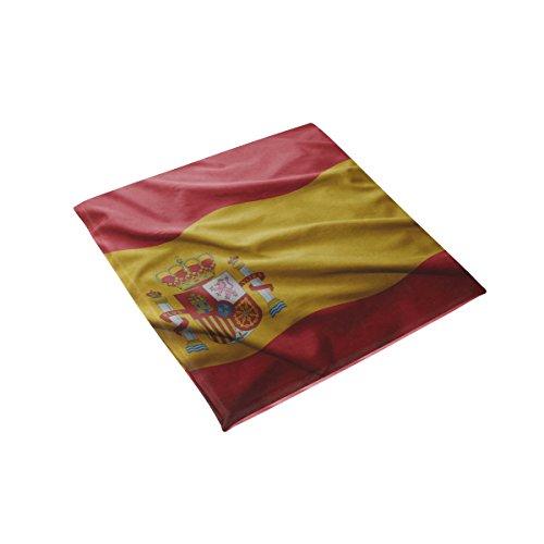 super3Dprinted Spain Flag Memory Foam 16'' x16'' Chair Pad Car Seat Cushion by super3Dprinted