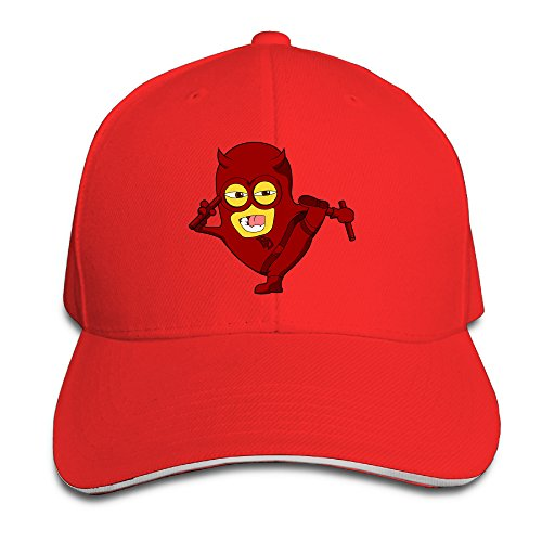 Logon 8 Daredevil Fashion Hats Red One Size