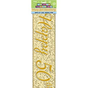 Happy Retirement Prismatic 12ft Foil Banner