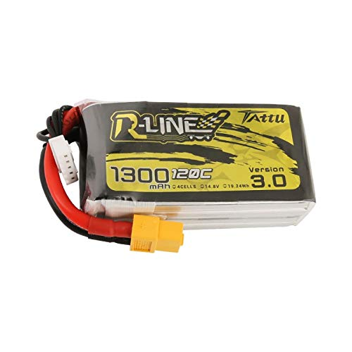 Tattu R-Line Version 3.0 1300mAh 4s 120C Lipo Battery FPV Drone Racing