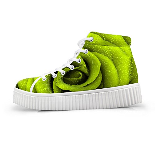 Fashion High Sneakers Floral Platform Women flower4 Top Shoes HUGSIDEA 7fR66