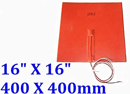Calefactor flexible de silicona, 400 x 400 mm, 110 V, 1250 W con ...